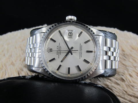 [1968] Rolex DATEJUST 1603 SS with Original Silver SIGMA Dial and Folded Jubilee