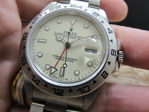 1987 Rolex EXPLORER 2 16550 Creamy Rail Dial with Box and Paper