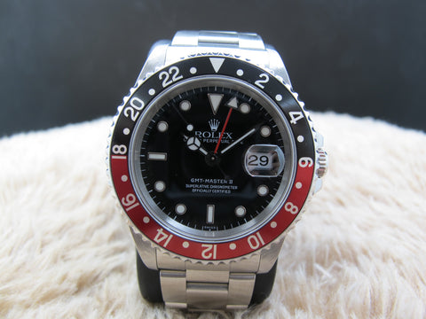 1999 Rolex GMT MASTER 2 16710 Coke Red/Black Bezel