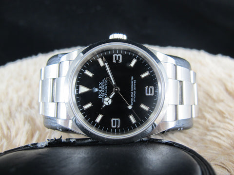 [2007] Rolex EXPLORER 1 114270 Black Dial with BOX and PAPER