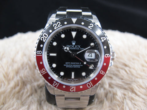 [2004] Rolex GMT MASTER 2 16710 Coke Bezel with Box and Paper (UNPOLISHED)