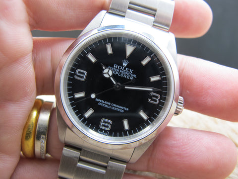 1999 Rolex EXPLORER 1 14270 Black Dial with Box and Papers