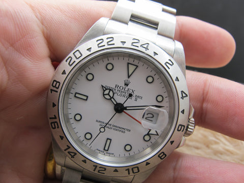 2003 Rolex EXPLORER 2 16570 White Dial with Box and Paper