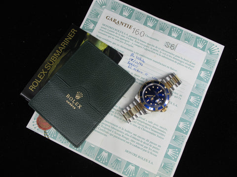 [1994] Rolex SUBMARINER 16613 2-Tone Purple (T25) Dial with Box and Paper