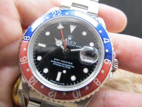1991 Rolex GMT MASTER 16700 Pepsi Red/Blue Bezel with BOX and PAPER