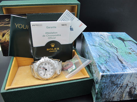 2004 Rolex EXPLORER 2 16570 White Dial with Box and Paper