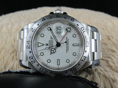 "[1999] Rolex EXPLORER 2 16570 White ""SWISS"" Dial with Box and Paper"