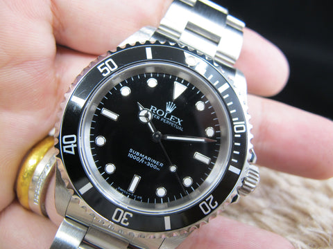 [1995] Rolex SUBMARINER (T25 Dial) 14060 with Black Bezel