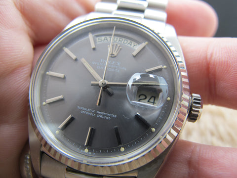 1972 Rolex DAY-DATE 1803 18K White Gold with Original Grey Dial Full Set