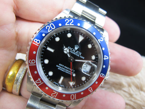 [2001] Rolex GMT MASTER 2 16710 Pepsi Bezel with BOX and PAPER
