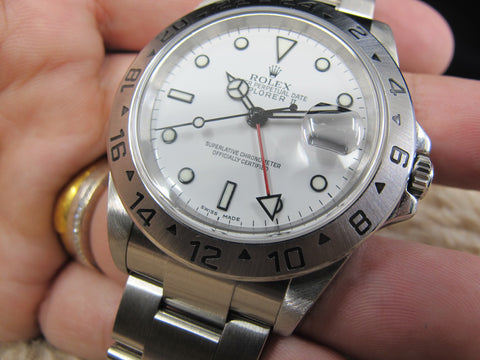 [2005] Rolex EXPLORER 2 16570 White Dial with FULL SET