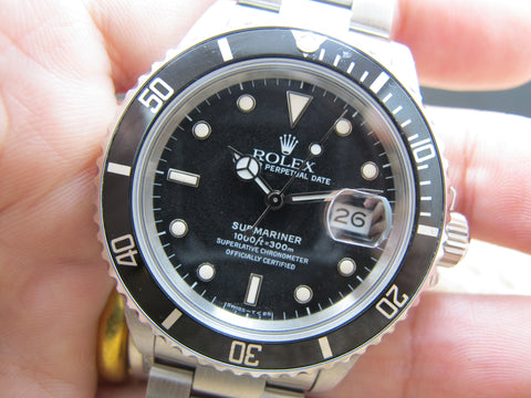 "1987 Rolex SUBMARINER 168000 (Triple ""0"") with Tropical Dial"