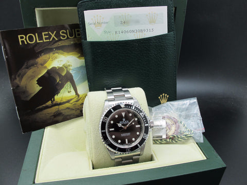 2007 Rolex SUBMARINER 14060M with Box and Paper