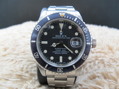 1982 Rolex SUBMARINER 16800 Matt Dial with Nice Patina