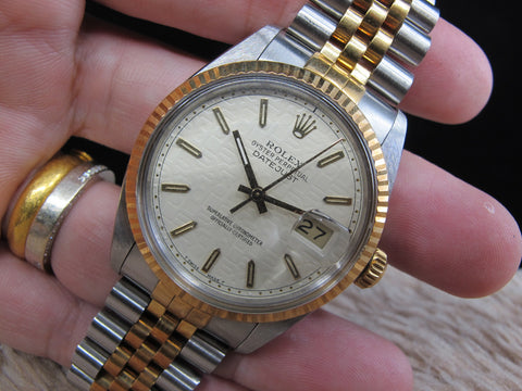 [1987] Rolex DATEJUST 16013 2-Tone with ORIGINAL Creamy Jubilee Dial