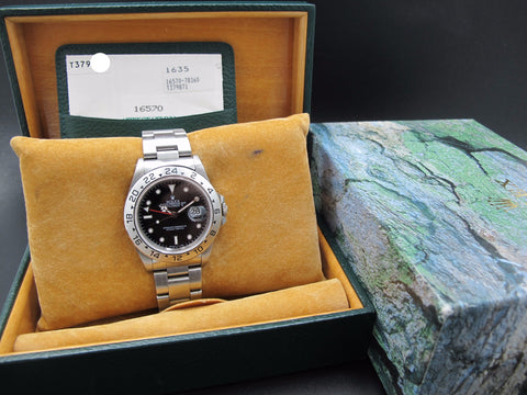 1996 Rolex EXPLORER 2 16570 Black (T25) Dial with Box and Paper