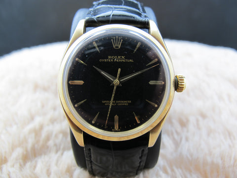 [1959] Rolex OYSTER PERPETUAL 1005 14K Yellow Gold Gilt Dial