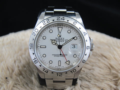 [1996] Rolex EXPLORER 2 16570 White Dial (T25) with Box and Paper