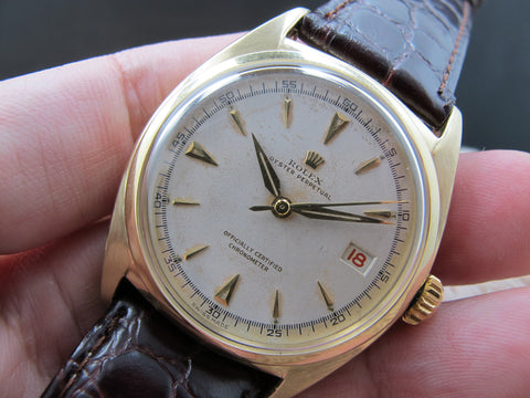 1950 Rolex BIG BUBBLEBACK 6030 10K Yellow Gold