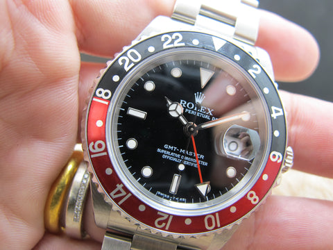1997 Rolex GMT MASTER 16700 Coke Red/Black Bezel with BOX and PAPER