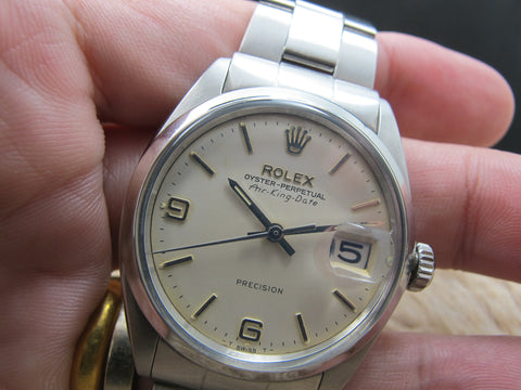 1962 Rolex AIR KING DATE 5700 with Original Cream Explorer Dial RARE