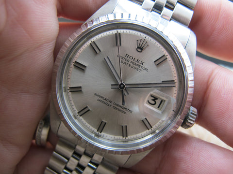 1968 Rolex DATEJUST 1603 SS with Original Wide Boy (no lume) Dial