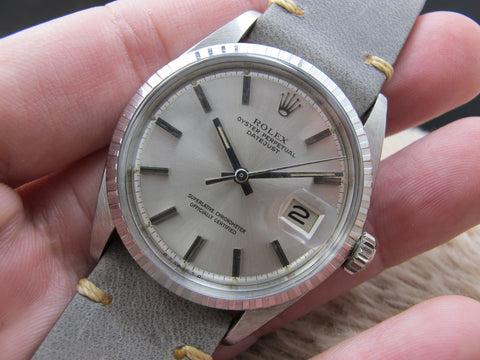 1972 Rolex DATEJUST 1603 SS with ORIGINAL Silver Dial with Nice Patina