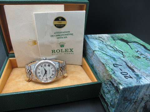 1972 Rolex DATEJUST 1601 SS ORIGINAL Creamy Buckley Dial with Box and Paper