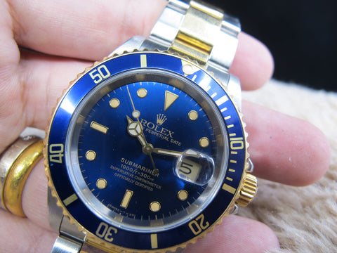 [1991] Rolex SUBMARINER 16613 2-Tone Blue Dial with Paper