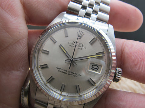 1973 Rolex DATEJUST 1601 SS with Original Wide Boy Dial