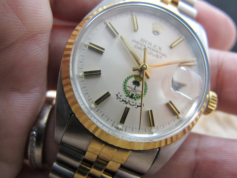 1979 Rolex DATEJUST 16013 Original Silver Dial with Saudi Arabia Logo and RSC Paper