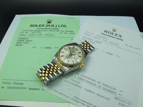 [1979] Rolex DATEJUST 16013 Original Silver Dial with Saudi Arabia Logo and RSC Paper