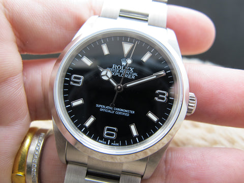 2010 Rolex EXPLORER 1 114270 Black Dial with BOX and Card