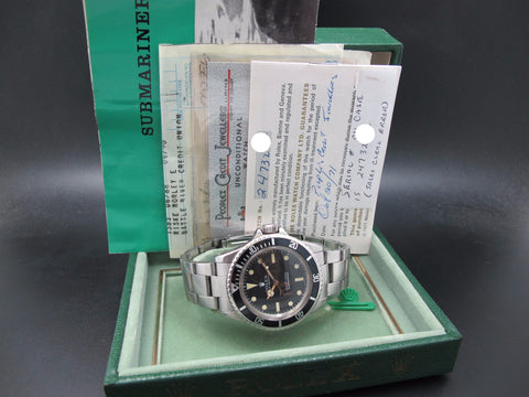 1971 Rolex SUBMARINER 5513 Matt Serif Dial with Box and Paper