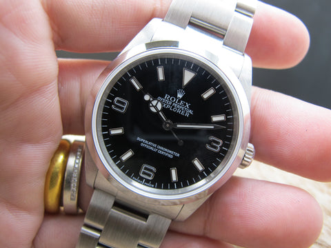 2002 Rolex EXPLORER 1 114270 Black Dial with Box and Paper