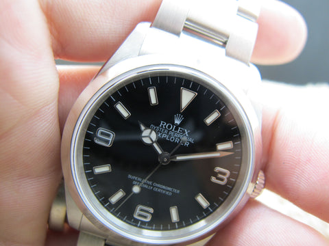2005 Rolex EXPLORER 1 114270 Black Dial with BOX and Paper