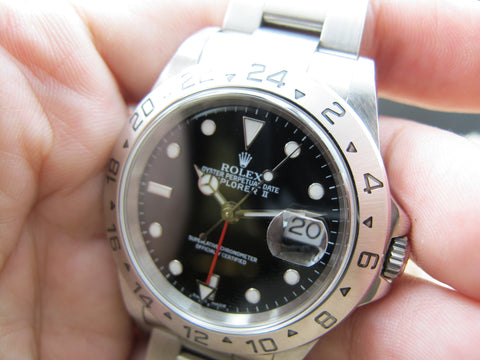 2001 Rolex EXPLORER 2 16570 Black Dial with Box and Paper