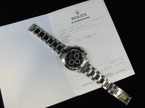 [1999] Rolex DAYTONA SS 16520 Black Dial with RSC Paper (A Serial)
