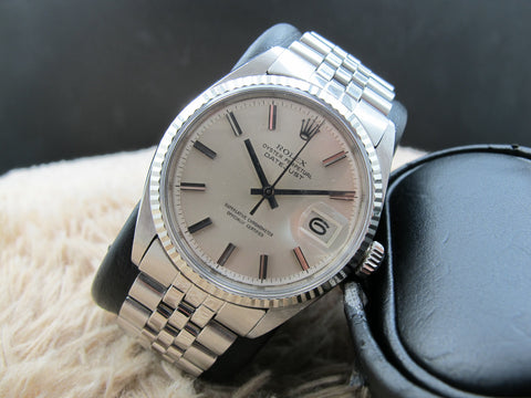 1972 Rolex DATEJUST 1601 SS with Original Silver NO LUME Dial