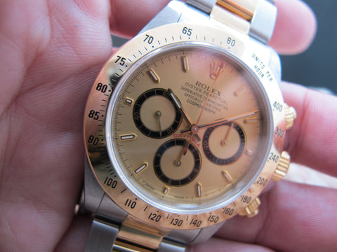 "1993 Rolex DAYTONA 16523 Original Champagne ""Inverted 6"" Dial (Zenith) with Paper"