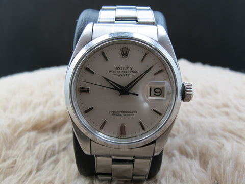 [1961] Rolex OYSTER DATE 1500 Original Creamy Dial with Arrowhead Markers and Dagger Hands