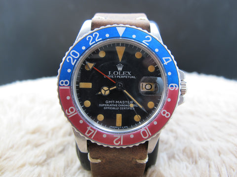 [1972] Rolex GMT MASTER 1675 Pepsi with Pumpkin Patina