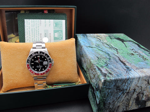 1998 Rolex GMT MASTER 2 16710 (T25) Coke Bezel with BOX and PAPER