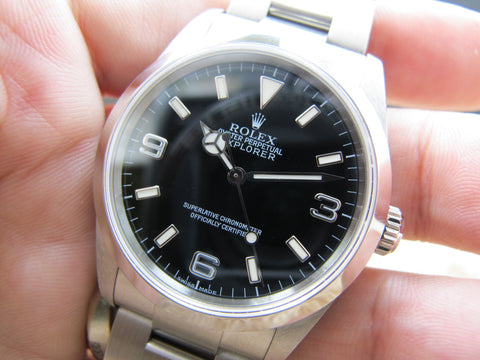 2004 Rolex EXPLORER 1 114270 Black Dial with Box and Paper