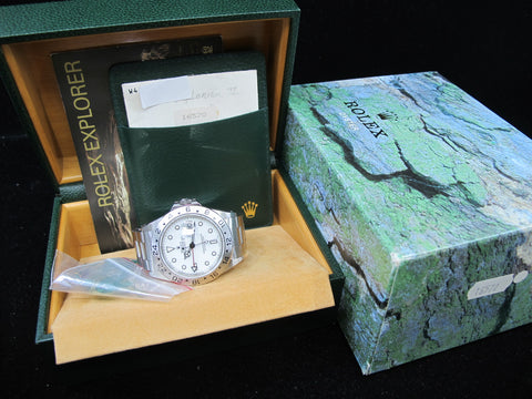 [1995] Rolex EXPLORER 2 16570 White T25 Dial (Yellow Lume Dots) with Box and Paper