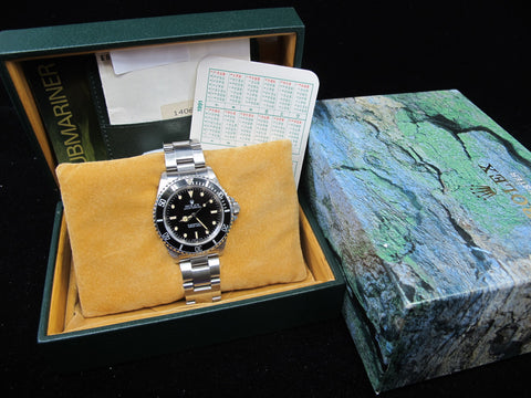 [1990] Rolex SUBMARINER 14060 T25 Yellow Lume Dial with Box and Paper