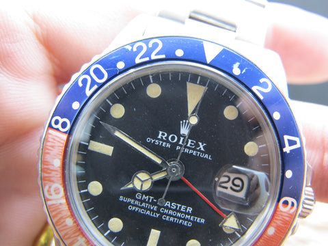 1975 Rolex GMT MASTER 1675 MK2 Dial Pepsi with Box and Papers
