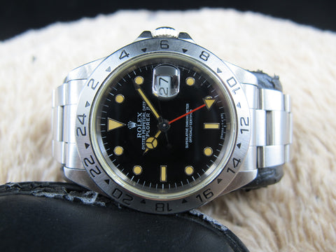 [1993] Rolex EXPLORER 2 16570 Black T25 Pumpkin Lume Dial with Box and Papers