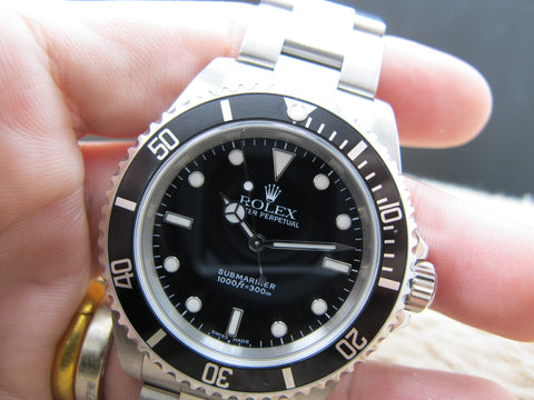 2001 Rolex SUBMARINER 14060 (SWISS MADE Dial) with Box and Paper