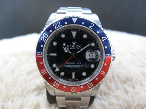 2001 Rolex GMT MASTER 2 16710 Pepsi Bezel with BOX and PAPER